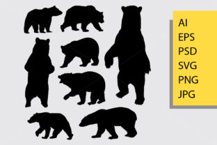 Bear Animal Silhouette Graphic By Cove703