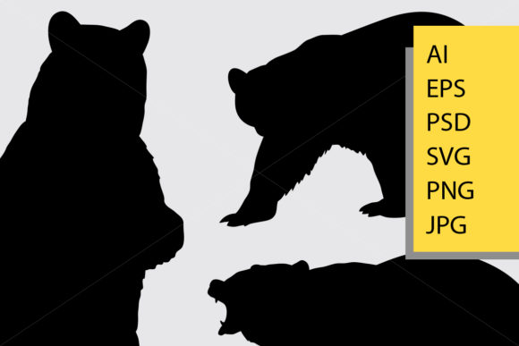 Bear Animal Silhouette Graphic By Cove703 Image 2