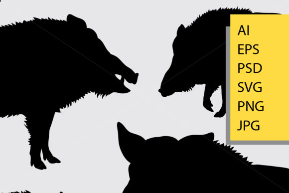 Boar Animal Silhouette Graphic By Cove703 Image 2