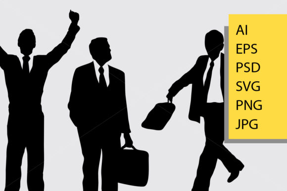 Businessman Silhouette Graphic Illustrations By Cove703 - Image 2