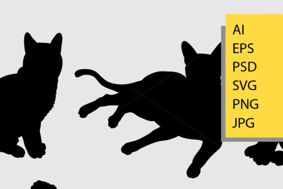 Cat Animal Silhouette Graphic By Cove703 Image 2