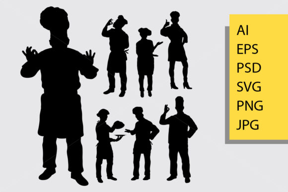 Master Chef Silhouette Graphic By Cove703 Image 1