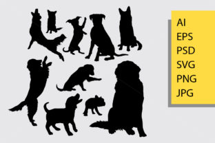 Dog Animal Silhouette Graphic By Cove703