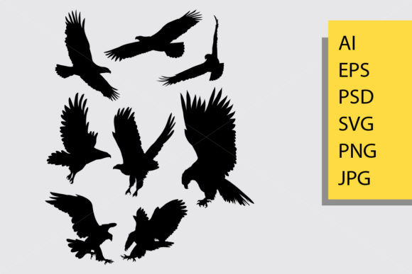 Eagle Bird Silhouette Graphic By Cove703 Image 1