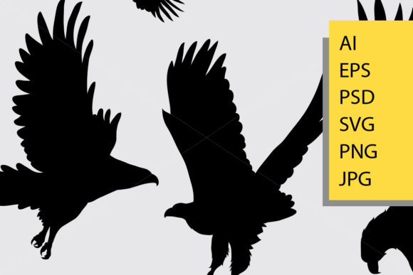 Download Free Eagle Bird Silhouette Graphic By Cove703 Creative Fabrica for Cricut Explore, Silhouette and other cutting machines.