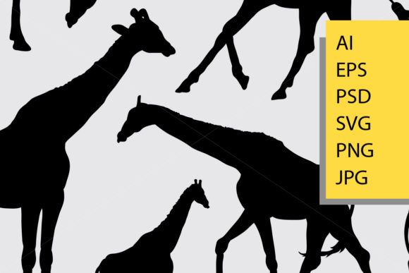 Giraffe Animal Silhouette Graphic Illustrations By Cove703 - Image 2