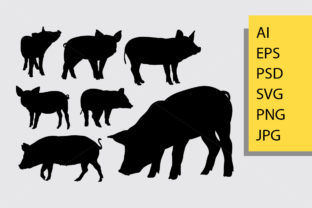 Pig Animal Silhouette Graphic By Cove703