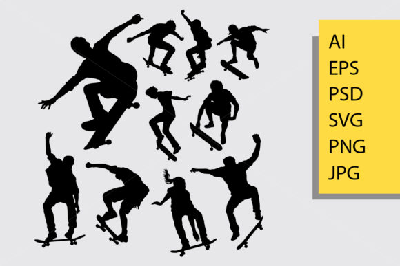 Download Free Hip Hop Dance Silhouette Graphic By Cove703 Creative Fabrica for Cricut Explore, Silhouette and other cutting machines.