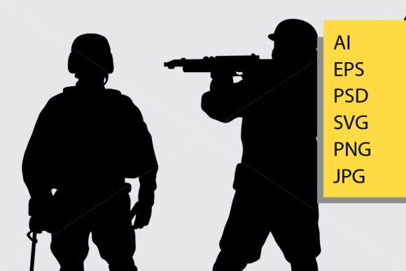 Soldier Silhouette Graphic Illustrations By Cove703 - Image 2