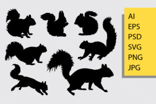 Squirrel Animal Silhouette Graphic By Cove703