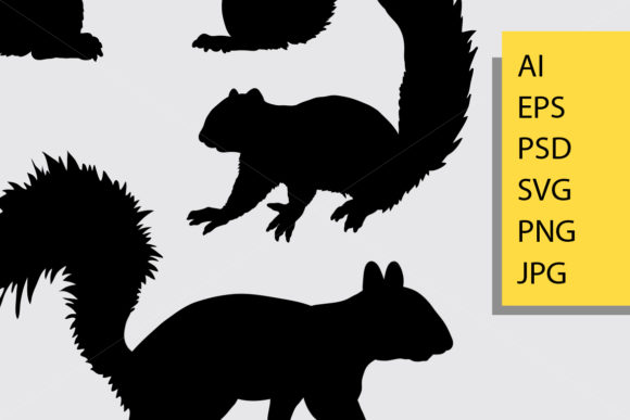 Squirrel Animal Silhouette Graphic Illustrations By Cove703 - Image 2