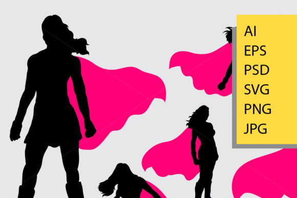 Supergirl Silhouette Graphic Illustrations By Cove703 - Image 2
