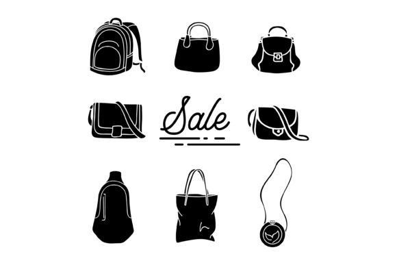 Print on Demand: Silhouette Bag Collection Graphic Graphic Templates By sabavector