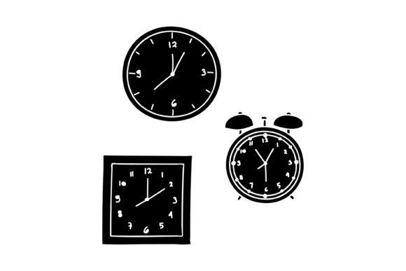 Print on Demand: Silhouette Clock Design Graphic Graphic Templates By sabavector