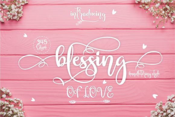 Print on Demand: Blessing Script & Handwritten Font By creativework69 - Image 1