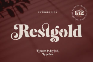 Restgold Display Font By Great Studio