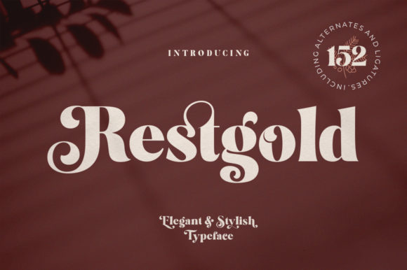 Print on Demand: Restgold Display Font By Great Studio