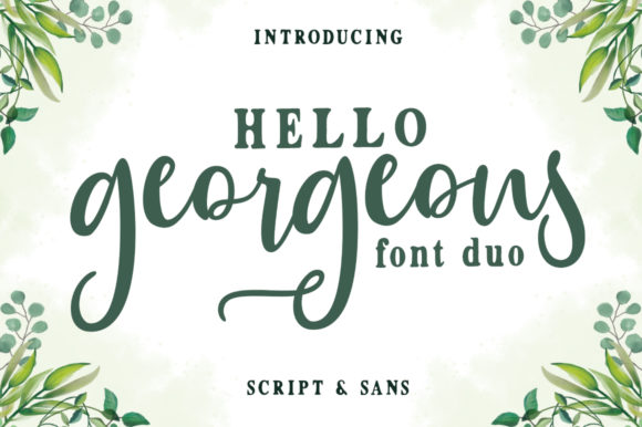 Print on Demand: Hello Georgeous Duo Script & Handwritten Font By Zane Studio