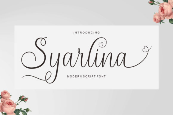 Syarlina Script & Handwritten Font By Stripes Studio