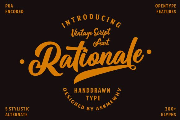 Print on Demand: Rationale Script & Handwritten Font By Askmewhy