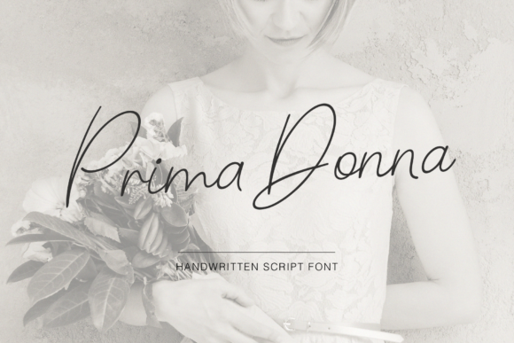 Print on Demand: Prima Donna Script & Handwritten Font By Pasha Larin