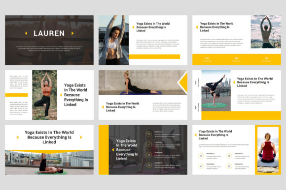 Lauren - Yoga PowerPoint Graphic Presentation Templates By StringLabs - Image 2