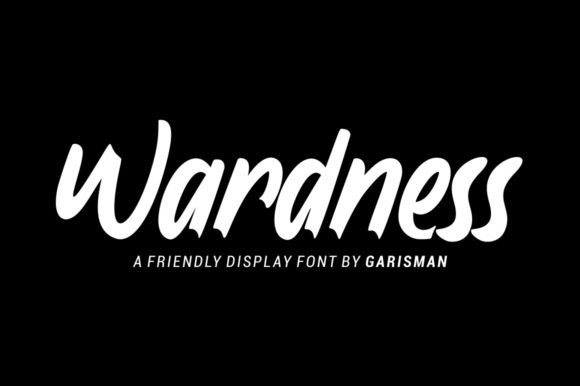 Print on Demand: Wardness Display Font By Garisman Studio - Image 1