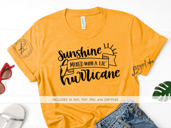 Print on Demand: Sunshine Mixed with a Lil Hurricane Graphic Crafts By BeckMcCormick