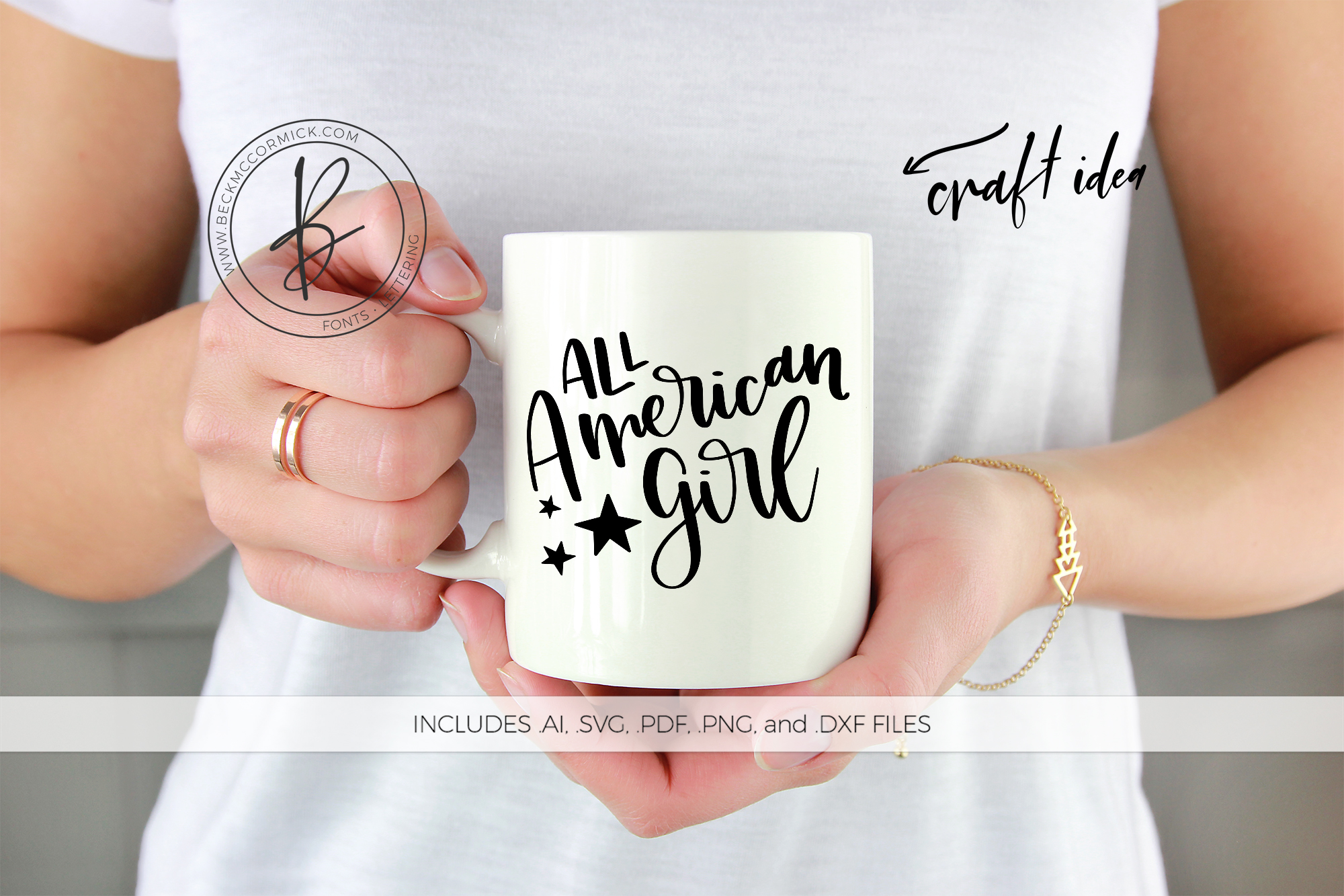 Download Free All American Girl Graphic By Beckmccormick Creative Fabrica for Cricut Explore, Silhouette and other cutting machines.