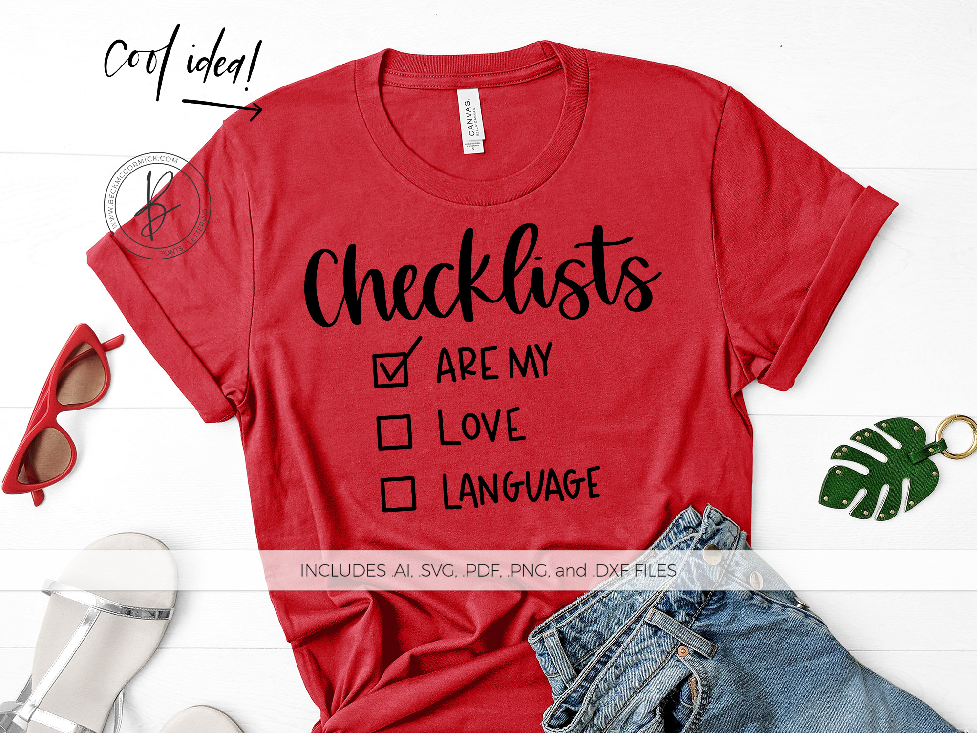 Download Free Checklists Are My Love Language Graphic By Beckmccormick for Cricut Explore, Silhouette and other cutting machines.