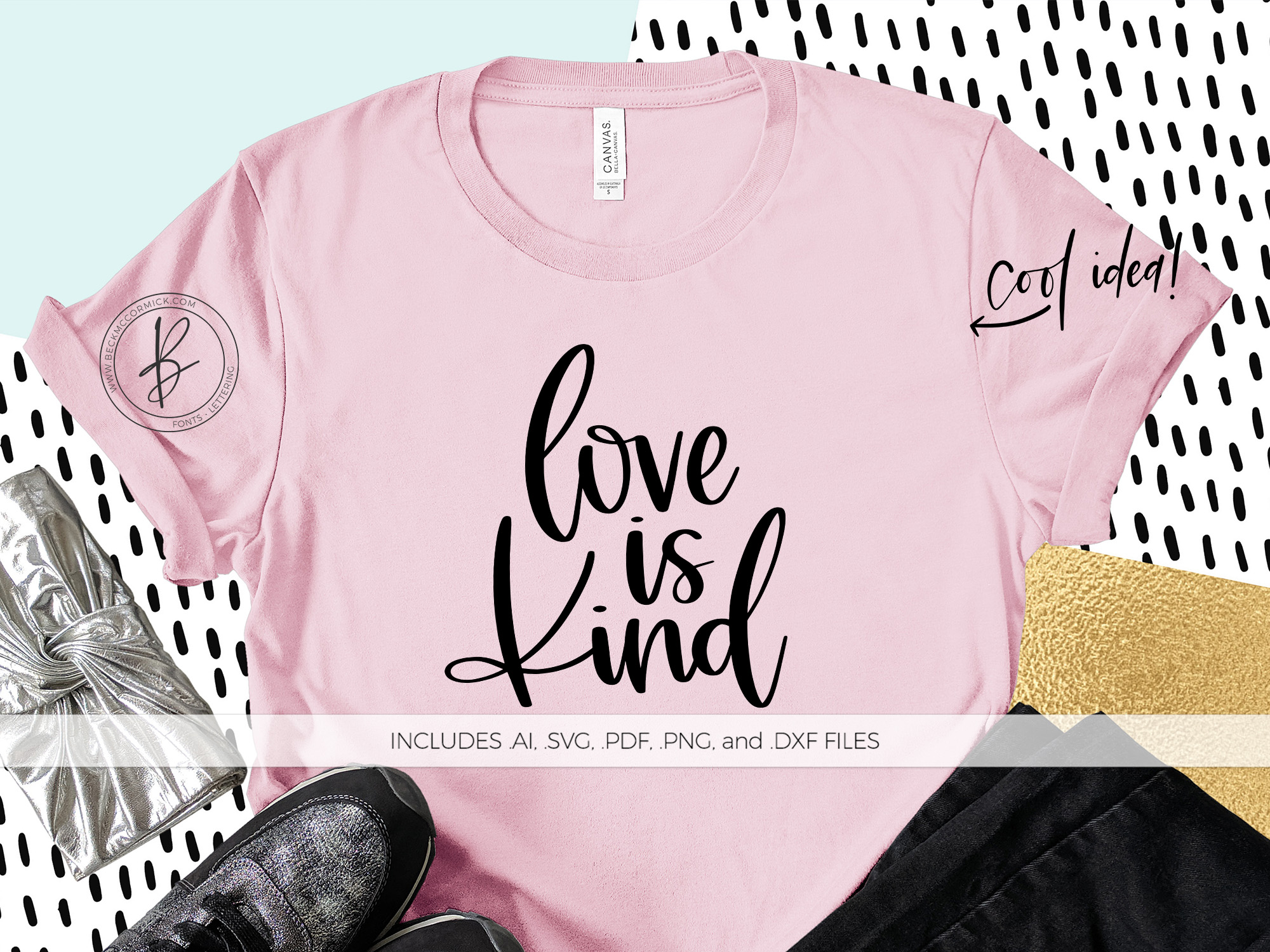 Download Free Love Is Kind Graphic By Beckmccormick Creative Fabrica for Cricut Explore, Silhouette and other cutting machines.