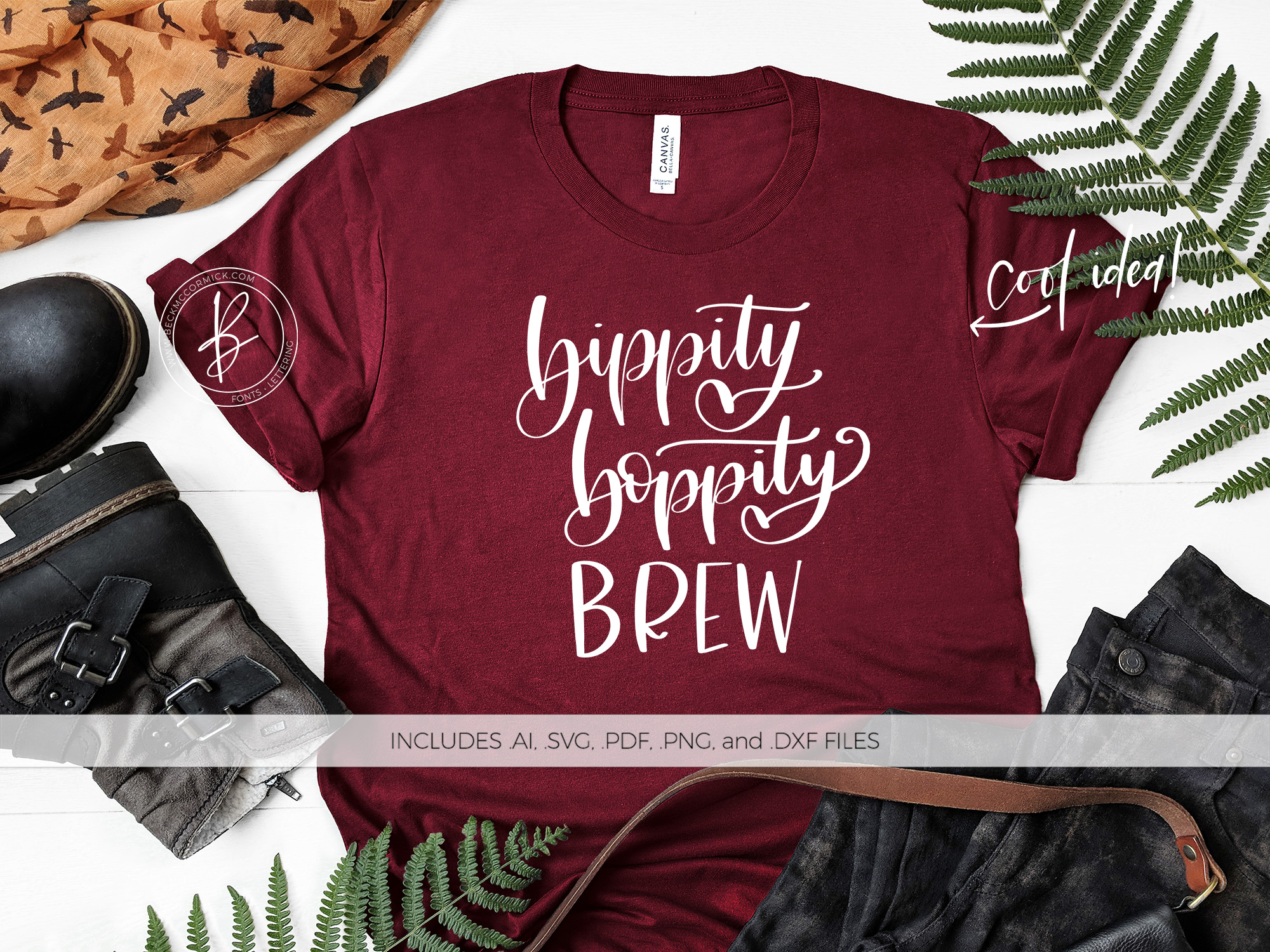 Download Free Bippity Boppity Brew Graphic By Beckmccormick Creative Fabrica for Cricut Explore, Silhouette and other cutting machines.