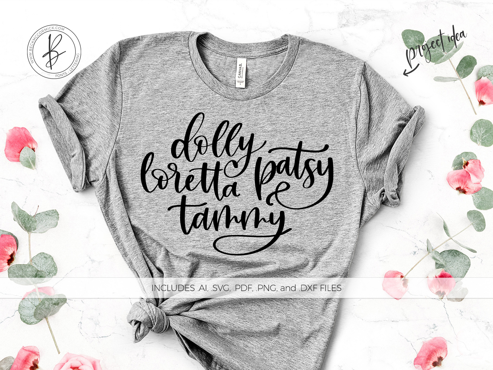 Download Free Dolly Loretta Patsy Tammy Graphic By Beckmccormick Creative for Cricut Explore, Silhouette and other cutting machines.