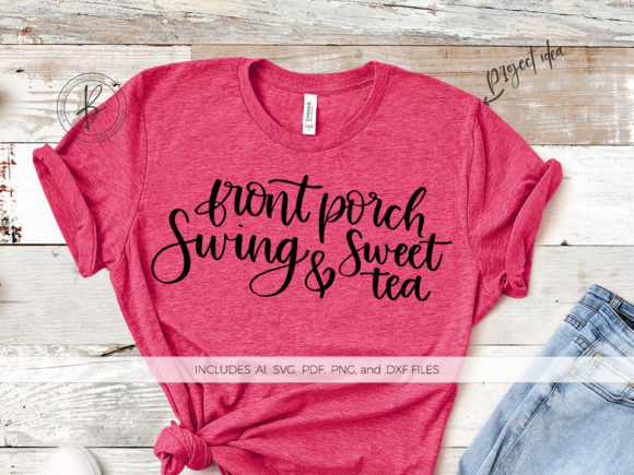 Download Free Front Porch Swing Sweet Tea Graphic By Beckmccormick SVG Cut Files