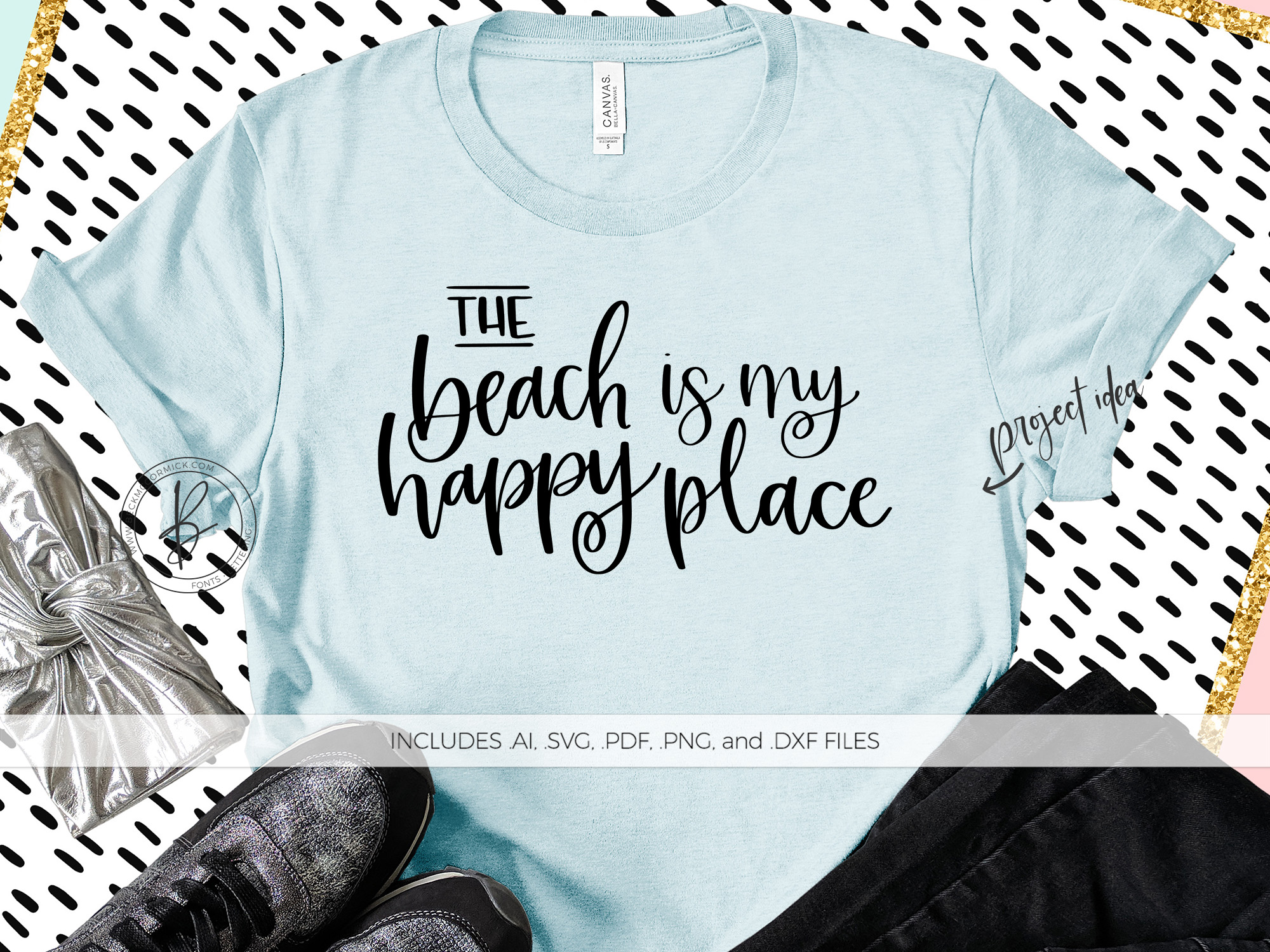 Download Free The Beach Is My Happy Place Graphic By Beckmccormick Creative for Cricut Explore, Silhouette and other cutting machines.
