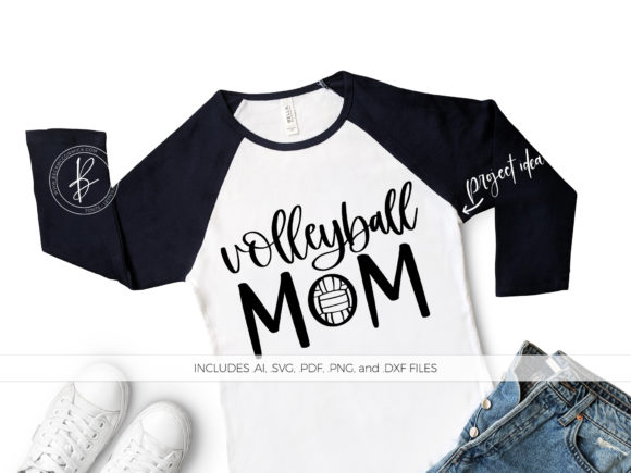 Print on Demand: Volleyball Mom Graphic Crafts By BeckMcCormick