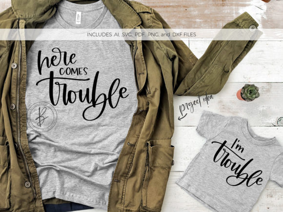 Print on Demand: Here Comes Trouble / I'm Trouble Graphic Crafts By BeckMcCormick