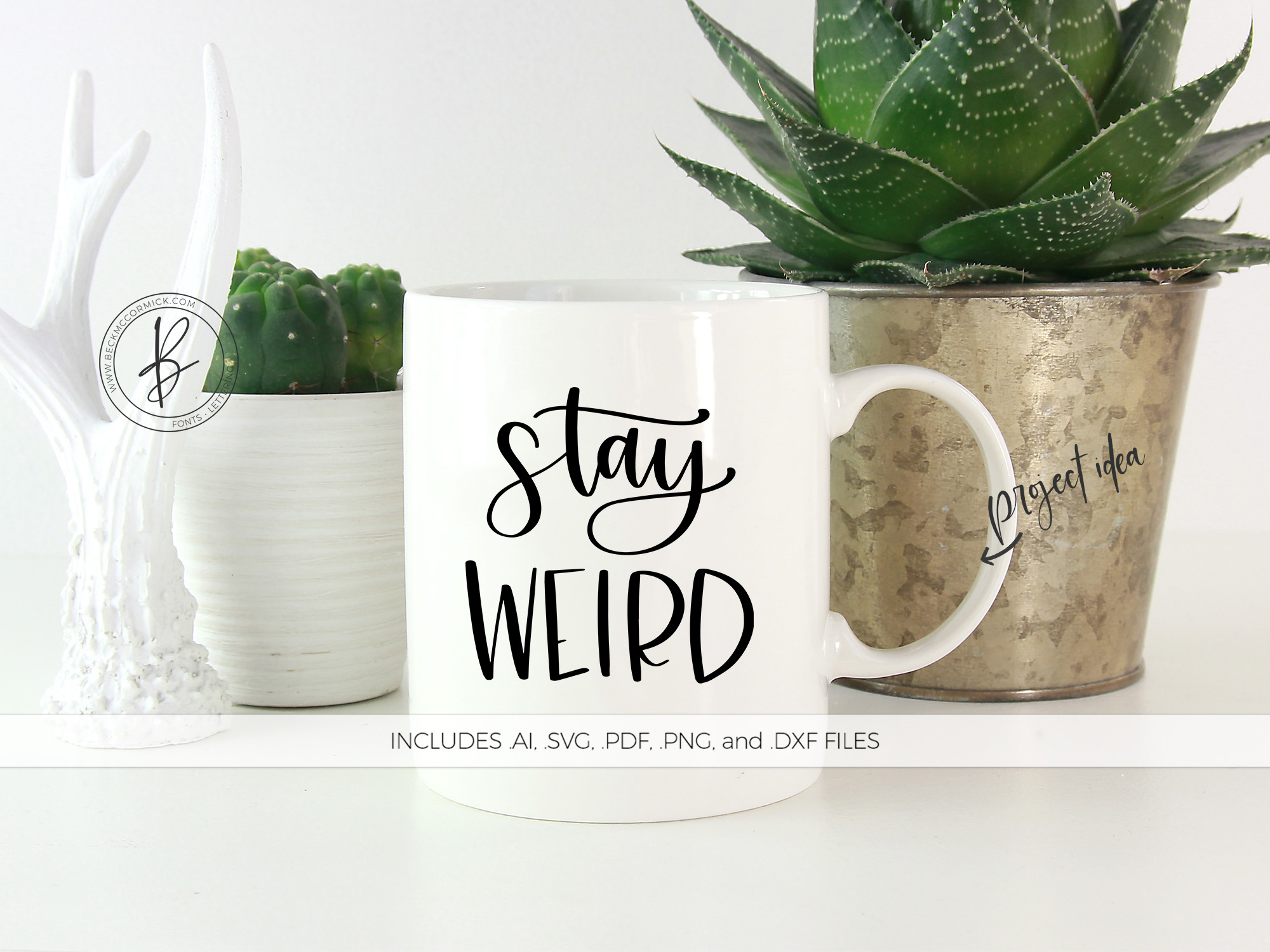 Download Free Stay Weird Graphic By Beckmccormick Creative Fabrica for Cricut Explore, Silhouette and other cutting machines.