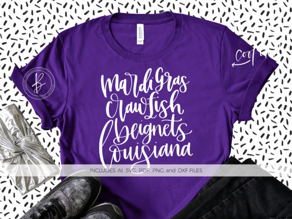 Download Free Mardi Gras Beignets Crawfish Louisiana Graphic By Beckmccormick for Cricut Explore, Silhouette and other cutting machines.