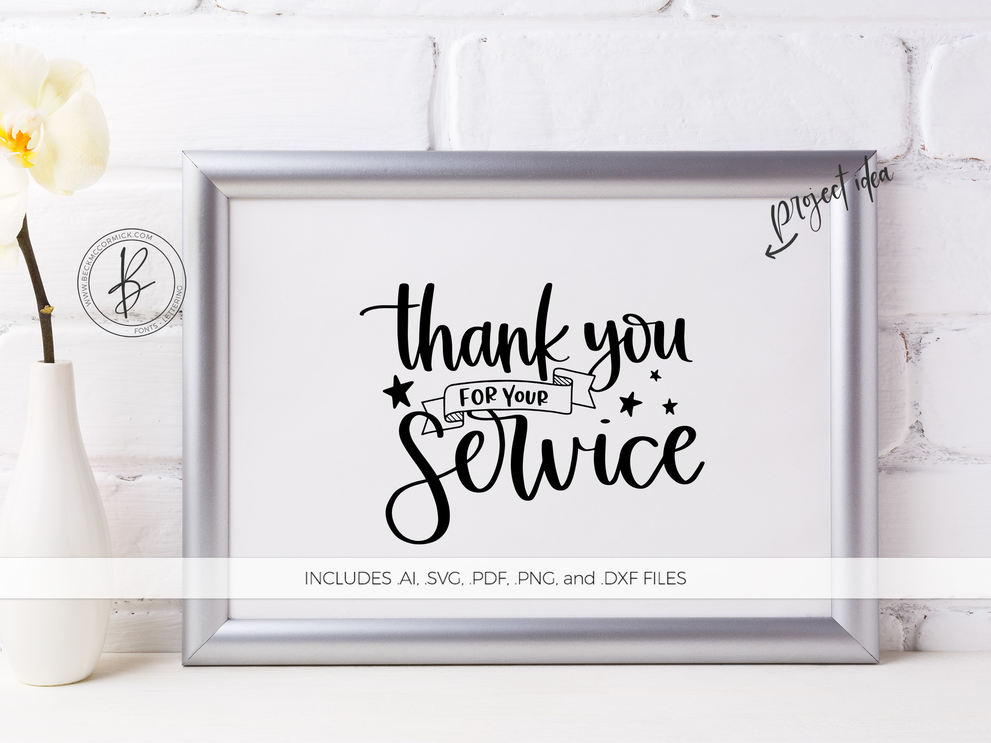 Download Free Thank You For Your Service Graphic By Beckmccormick Creative for Cricut Explore, Silhouette and other cutting machines.