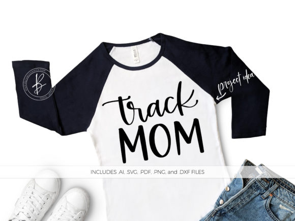 Download Free Track Mom Graphic By Beckmccormick Creative Fabrica for Cricut Explore, Silhouette and other cutting machines.