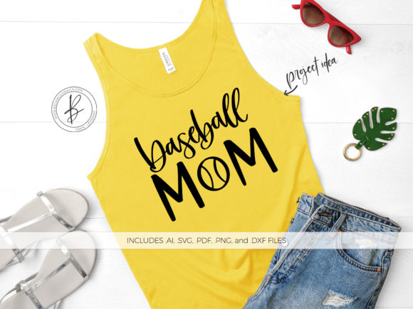 Print on Demand: Baseball Mom Graphic Crafts By BeckMcCormick