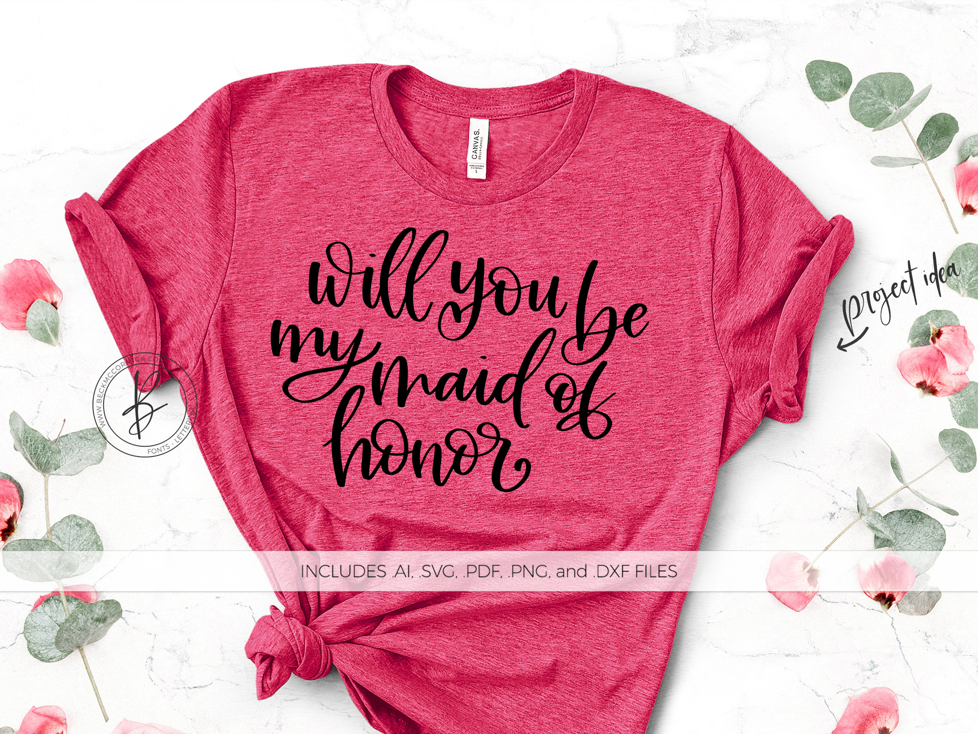 Download Free Will You Be My Maid Of Honor Graphic By Beckmccormick Creative for Cricut Explore, Silhouette and other cutting machines.