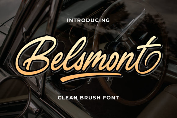 Print on Demand: Belsmont Script & Handwritten Font By Bangkit Setiadi