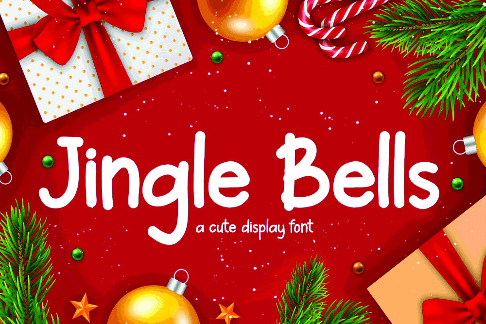 Download Free Jingle Bells Font By Girinesia Creative Fabrica for Cricut Explore, Silhouette and other cutting machines.