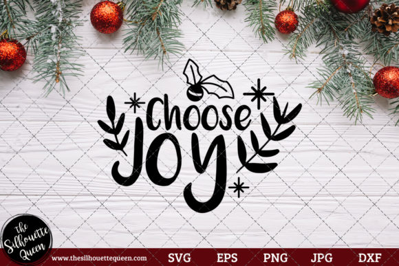 Download Free Choose Joy Saying Graphic By Thesilhouettequeenshop Creative SVG Cut Files