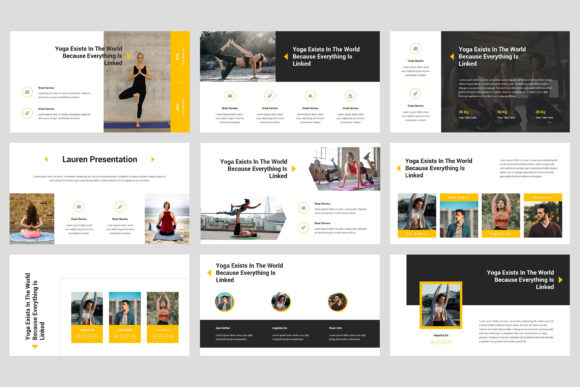 Lauren - Yoga PowerPoint Graphic Presentation Templates By StringLabs - Image 3