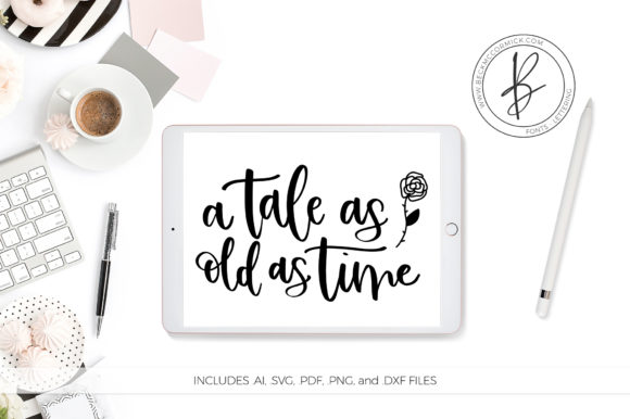 Download Free A Tales As Old As Time Graphic By Beckmccormick Creative Fabrica SVG Cut Files