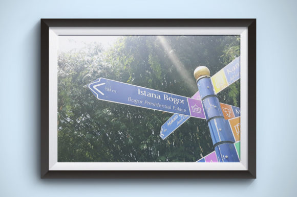 Directions for Bogor Presidential Palace Graphic By Kerupukart Production