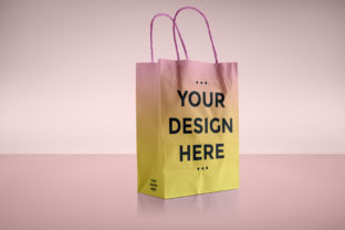 Download Free Paper Bag Packaging Mockup Template Graphic By Suedanstock for Cricut Explore, Silhouette and other cutting machines.